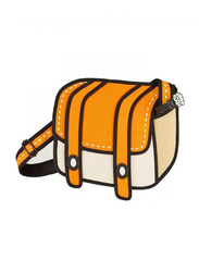 Jump From Paper 10.5-Inch Shoulder Bag for Women, Cheese Orange