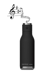 Asobu 17oz Double Wall Insulated Stainless Steel Water Bottle with Wireless Speaker Lid, ASB-BT60, Black