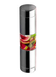 Asobu 500ml Flavor U See a Stainless Steel Fruit Infuser Slim and Classy Water Bottle, Silver