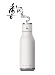 Asobu 17oz Double Wall Insulated Stainless Steel Water Bottle with Wireless Speaker Lid, ASB-BT60, White