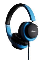 Boompods Hush 3.5mm Jack On-Ear Active Noise Cancellation Headphone & Travel Bag, Blue