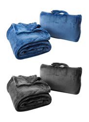 Cabeau Fold 'n Go Blanket, Charcoal Black