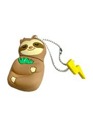 Mojipower 16GB Sleepy Sloth USB Flash Drive, Brown