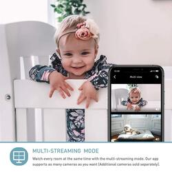 Lollipop Video Baby Monitor with Infrared Night Vision, LED 2.4GHz Wireless Transmission, Two-Way Talk, Temperature Sensor, Cotton Candy Pink
