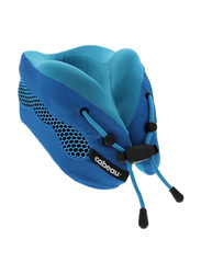 Cabeau Evolution Cool Air Circulating Head and Neck Memory Foam Cooling Travel Pillow, Blue