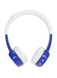BuddyPhones InFlight 3.5mm Jack On-Ear Headphones, Blue