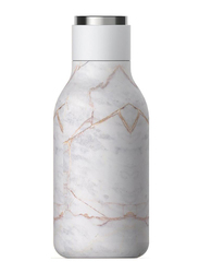 Asobu 16oz Urban Insulated & Double Walled Stainless Steel Bottle, ASB-SBV24P, Marble, White