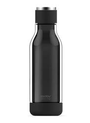 Asobu 17oz Inner Peace Glass & Tritan Encased Travel Water Bottle, ASB-GT50, Black