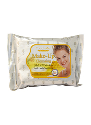 Touch Me Please Make Up Cleansing with Milk and Honey Extract, 25 Sheets, White