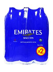 Emirates Drinking Water, 6 Bottles x 1.5 Liter