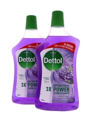 Dettol Lavender Anti-Bacterial Power Floor Cleaner, 2 Bottles x 900ml