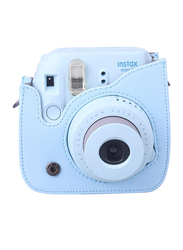 FujiFilm Instax Mini 8 Instant Film Camera, With 60mm f/12.7 Lens, 30.4 MP, Carry Bag, Blue