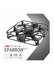 AEE Sparrow 360 Wi-Fi Selfie Drone Camera, Flash, 12 MP, Black