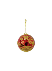 Christmas 6-Pieces Pearls Decoration Balls, Red/Gold
