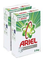 Ariel Laundry Powder Detergent, 2 Boxes x 2.5 Kg