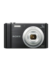 Sony W-800 Point and Shoot Digital Camera with 20.1 MP, Black