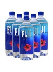 Fiji Bottled Natural Mineral Water, 6 Bottles x 1 Liter