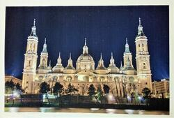 Decorative Mixed Media Monuments Canvas Painting, Multicolor