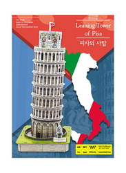 44-Piece 3D Pop Out World Learning Tower of Pisa Puzzle, 21.5cm, Multicolour
