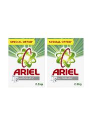 Ariel Washing Powder Laundry Detergent, 2 Pack x 2.5 Kg