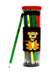 Basic 48-Piece Triangular Neon Pencil Set, Multicolour