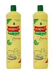 Hotpack Mapco Dishwashing Liquid Lemon, 1 Liter x 2 Piece