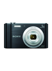 Sony W800 Compact Digital Camera, with 26 mm Wide-Angle Lens, 20.1 MP, Black