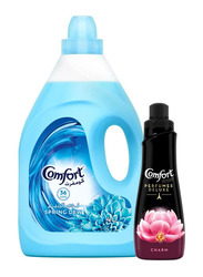Comfort Spring Dew Fabric Conditioner, 4 Liter with Comfort Perfumes Deluxe Charm, 650ml