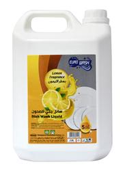 Euro Wash Lemon Fragrance Dishwashing Liquid, 5 Litres