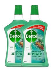 Dettol Pine Anti-Bacterial Power Floor Cleaner, 2 Bottles x 900ml