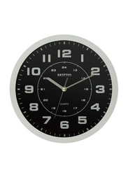 Krypton Round Wall Clock, KNWC6121, Black/White