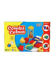 Virgo Toys 32-Piece Combi Cubes Puzzle Game, 20.2cm, Multicolour