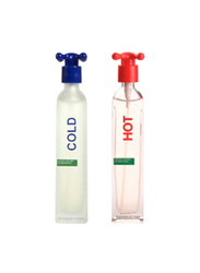 Benetton 2-Piece Hot and Cold Perfume Set Unisex, 2 x 100ml EDT
