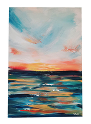 Nadeco Design Sunrise Abstract Wall Painting, 61 cm x 46 cm, Multicolor