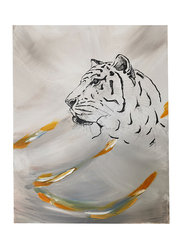 Nadeco Design Tiger Thoughts Abstract Wall Painting, 61 cm x 46 cm, Multicolor