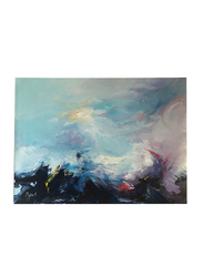 Nadeco Design Calming The Sea Abstract Wall Painting, 80 cm x 60 cm, Multicolor