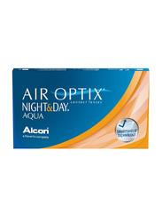 Air Optix Alcon Night & Day Aqua Monthly Pack of 3 Contact Lenses, Base Curve: 8.6mm, Clear, -2.50