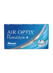 Air Optix Alcon Plus HydraGlyde Monthly Pack of 6 Contact Lenses, RX with Various Power, Clear, -1.75