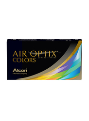 Air Optix Colors Monthly Pack of 2 Contact Lenses, RX with Various Power, Gemstone Green, -7.00