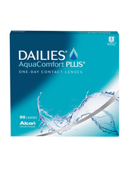 Dailies Alcon AquaComfort Plus 1-Day Pack of 90 Contact Lenses, with Various Powers, Clear, -11.00