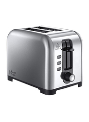Russell Hobbs Henley 2-Slice Stainless Steel Toaster, 23530, Silver