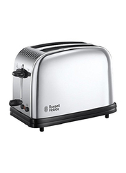 Russell Hobbs Classic 2 Slice Toaster, 1670W, 23310, Silver/Black