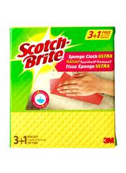 Scotch Brite Sponge Cloth Ultra, 4 Pieces