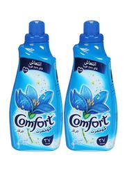 Comfort Iris & Jasmine Fabric Softener, 2 Bottles x 1.5 Liters