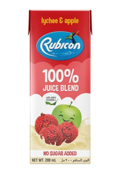 Rubicon Lychee and Apple Juice, 4 x 200ml
