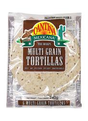 Cantina Mexicana Multi Grain Tortillas, 6 Pieces, 240g