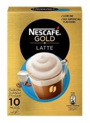 Nescafe Gold Latte Coffee, 10 Sachets x 19.5g