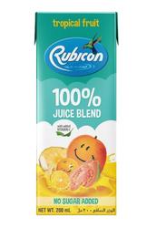Rubicon Tropical Fruit Juice, 4 x 200ml