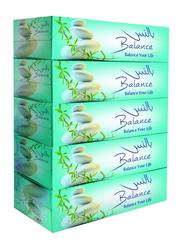 Masafi Balance Facial Tissue, 150 Sheets x 2 Ply x 5 Pieces