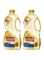 Coroli Sunflower Oil, 2 Pieces x 1.8 Liter